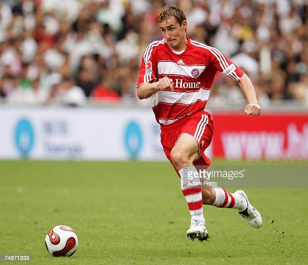 Miroslav Klose of Bayern Munich in action during the Bayern Munich vs Sao Paulo FC match of the HKSAR 10th Anniversary Reunification Cup at Hong Kong...