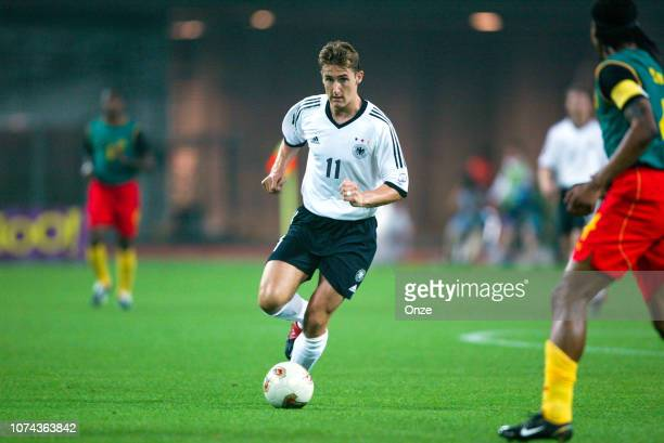 Miroslav KLOSE of Germany during the FIFA World Cup match between Cameroon and Germany on June 11 2002 in Ecopa de Shizuoka stadium Japan