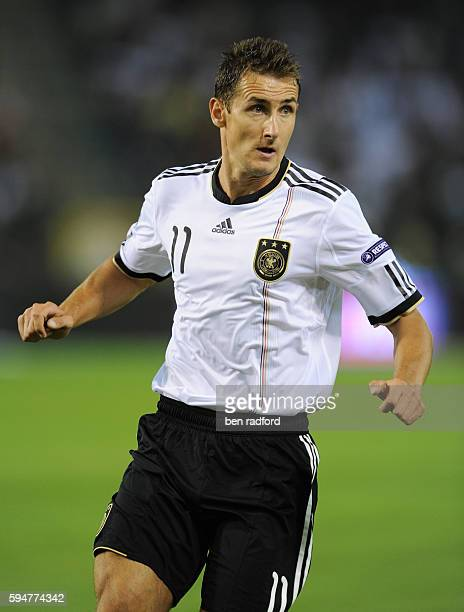 Miroslav Klose of Germany during the UEFA Euro 2012 Qualification match between Belgium and Germany at the King Boudewunstadion in Brussel/Stade Roi...