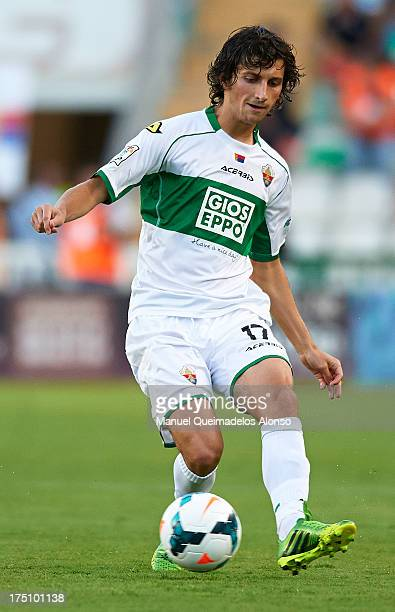 Miroslav Stevanovic of Elche in action during a friendly match between Elche CF and Benfica at Estadio Martinez Valero on July 31 2013 in Elche Spain