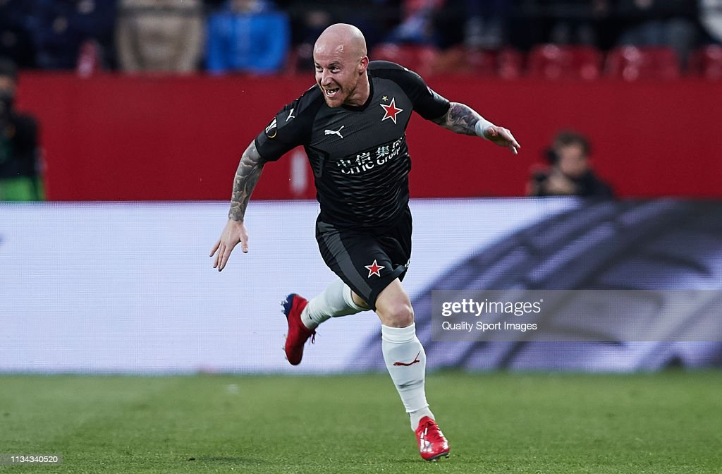 Sevilla v Slavia Prague - UEFA Europa League Round of 16: First Leg : News Photo