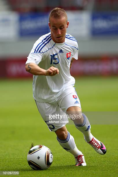 Miroslav Stoch of Slovakia during the Cameroon v Slovakia International Friendly match at the Hypo Group Arena on May 29, 2010 in Klagenfurt, Austria.