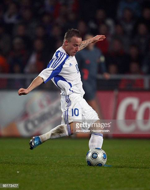 Miroslav Stoch of Slovakia runs with the ball during the international friendly match between Slovakia and Chile at the MSK Zilina stadium on...