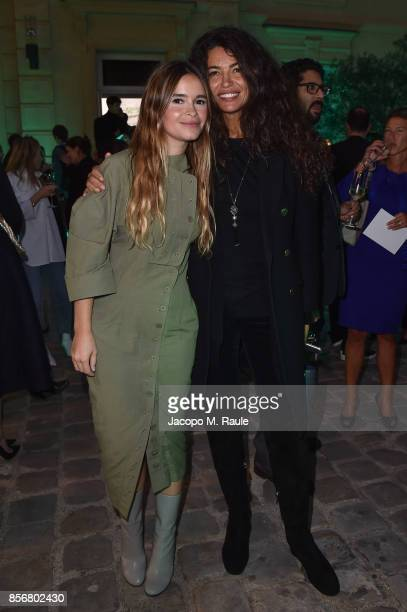 Miroslava Duma and Afef Jnifen attend Fashion Tech Lab launch event as part of Paris Fashion Week Womenswear Spring/Summer 2018 on October 2 2017 in...