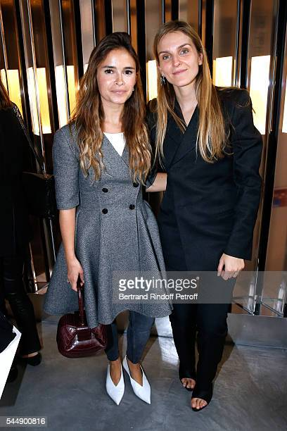 Miroslava Duma and Creative director of the Italian jewellery brand Repossi Gaia Repossi attend the Repossi Vendome Flagship Store Inauguration at...