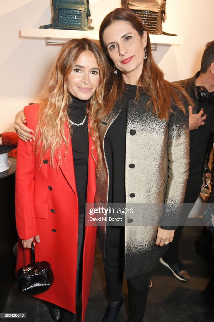 Miroslava Duma (L) and Livia Firth attend the opening of the BOTTLETOP flagship store on Regent Street on December 5, 2017 in London, England.