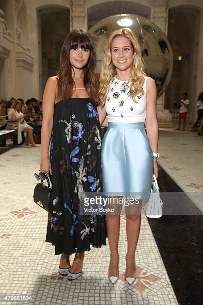Miroslava Duma and Suna Vidinli attend the Dice Kayek show as part of Paris Fashion Week Haute Couture Fall/Winter 2015/2016 on July 6 2015 in Paris...