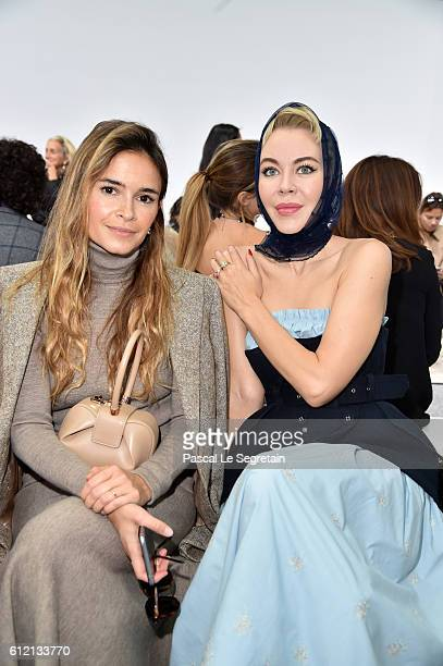 Miroslava Duma and Ulyana Sergeenko attend the Giambattista Valli show as part of the Paris Fashion Week Womenswear Spring/Summer 2017 on October 3...