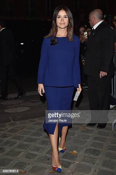 Miroslava Duma arrives at Givenchy Fashion Show during Paris Fashion Week Womenswear SS 2015 on September 28 2014 in Paris France