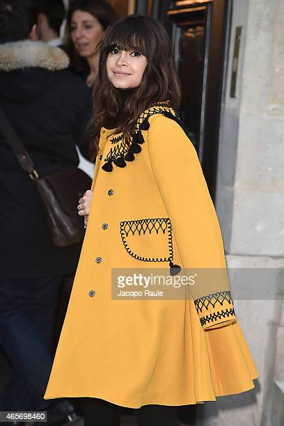 Miroslava Duma arrives at Sonia Rykiel Fashion Show during Paris Fashion Week Fall Winter 2015/2016 on March 9 2015 in Paris France