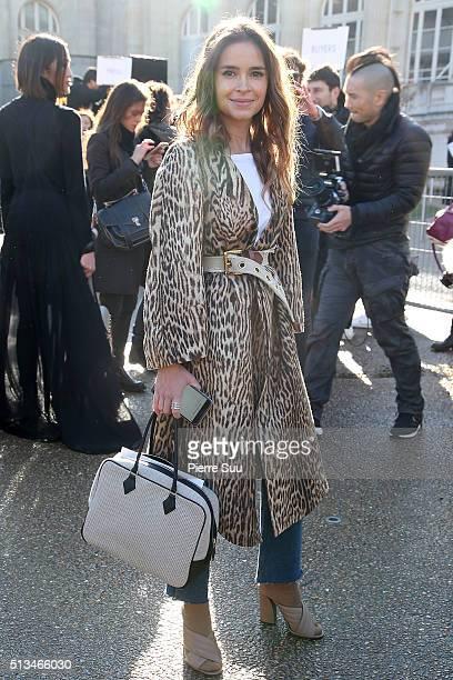 Miroslava Duma arrives at the Chloe show as part of the Paris Fashion Week Womenswear Fall/Winter 2016/2017 on March 3 2016 in Paris France