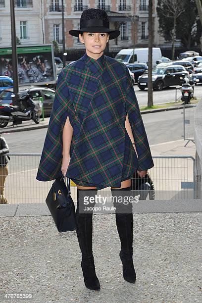 Miroslava Duma arrives at the Miu Miu show as part of the Paris Fashion Week Womenswear Fall/Winter 20142015 on March 5 2014 in Paris France