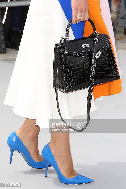 Miroslava Duma arrives to attend the Christian Dior show as part of Paris Fashion Week Haute Couture Fall/Winter 20132014 at on July 1 2013 in Paris...