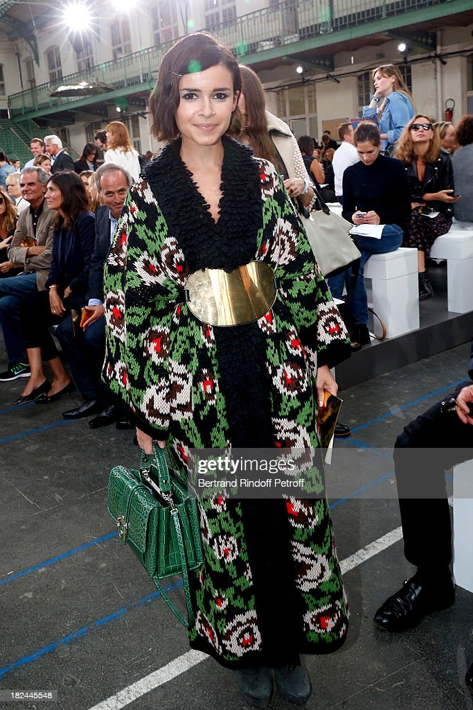 Miroslava Duma attend Chloe show as part of the Paris Fashion Week Womenswear Spring/Summer 2014, held at Lycee Carnot on September 29, 2013 in Paris, France.