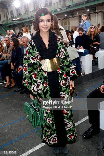 Miroslava Duma attend Chloe show as part of the Paris Fashion Week Womenswear Spring/Summer 2014 held at Lycee Carnot on September 29 2013 in Paris...