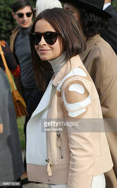 Miroslava Duma attends Chloe fashion show at Grand Palais as part of the Paris Fashion Week Womenswear Spring/Summer 2015 on September 28 2014 in...