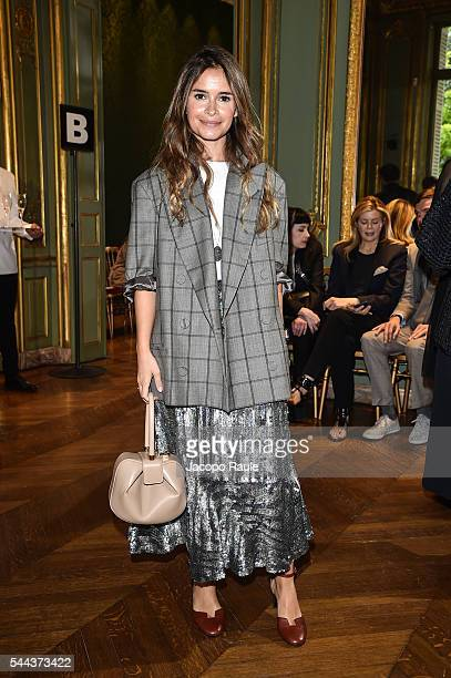 Miroslava Duma attends the Alberta Ferreti Haute Couture Fall/Winter 20162017 show as part of Paris Fashion Week on July 3 2016 in Paris France