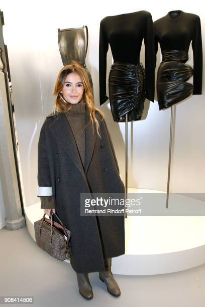 Miroslava Duma attends the Azzedine Alaia Je Suis Couturier Exhibition as part of Paris Fashion Week Held at Azzedine Alaia Gallery on January 21...
