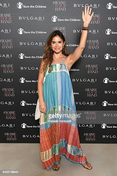 Miroslava Duma attends the Bvlgari and Save The Children Unveiling of #RaiseYourHand Campaign at Maxxi Museum on July 8 2016 in Rome Italy