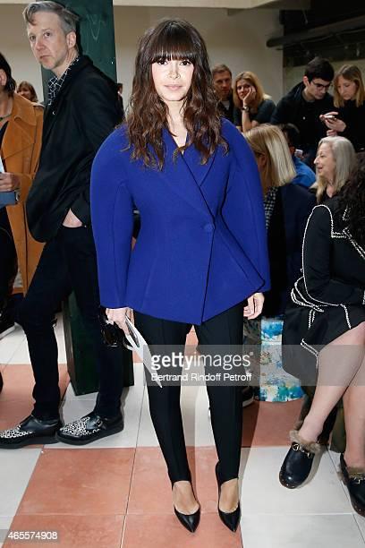 Miroslava Duma attends the Celine show as part of the Paris Fashion Week Womenswear Fall/Winter 2015/2016 on March 8 2015 in Paris France