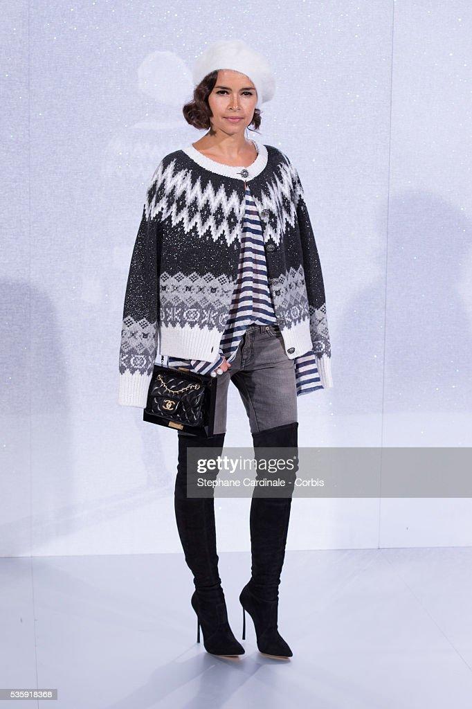 Miroslava Duma attends the Chanel show as part of Paris Fashion Week Haute-Couture Spring/Summer 2014, at Grand Palais in Paris.
