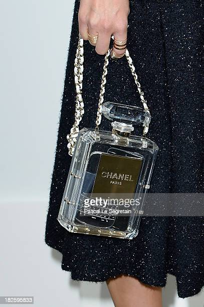 Miroslava Duma attends the Chanel show as part of the Paris Fashion Week Womenswear Spring/Summer 2014 at Grand Palais on October 1 2013 in Paris...