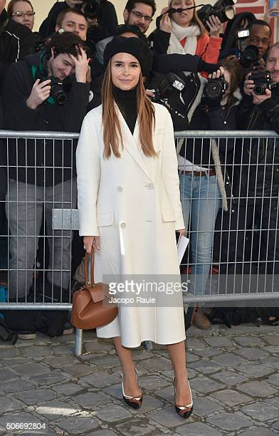 Miroslava Duma attends the Christian Dior Haute Couture Spring Summer 2016 show as part of Paris Fashion Week on January 25 2016 in Paris France