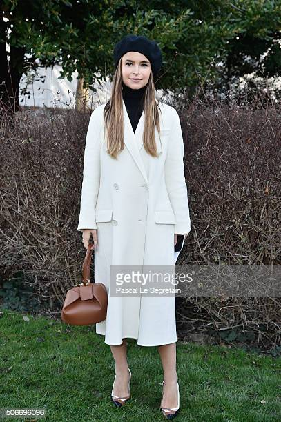 Miroslava Duma attends the Christian Dior Spring Summer 2016 show as part of Paris Fashion Week on January 25 2016 in Paris France