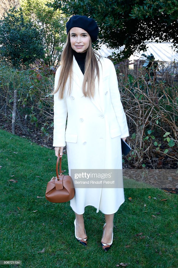 Miroslava Duma attends the Christian Dior Spring Summer 2016 show as part of Paris Fashion Week. Held at Musee Rodin on January 25, 2016 in Paris, France.