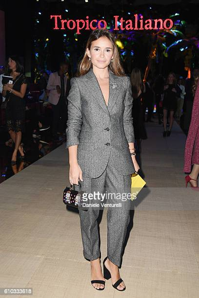 Miroslava Duma attends the Dolce And Gabbana show during Milan Fashion Week Spring/Summer 2017 on September 25 2016 in Milan Italy