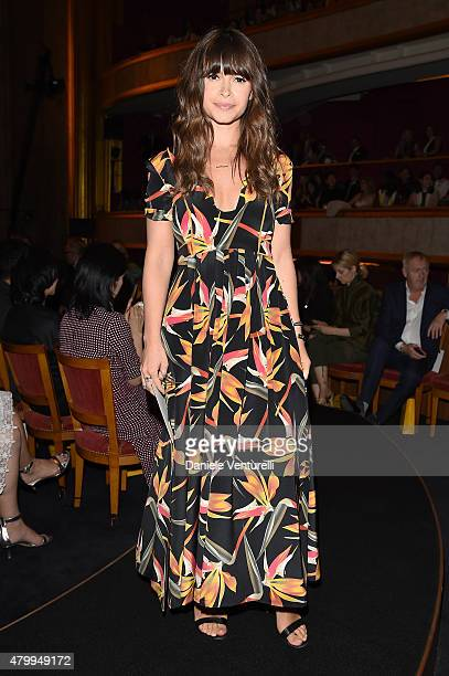 Miroslava Duma attends the Fendi show as part of Paris Fashion Week Haute Couture Fall/Winter 2015/2016 on July 8 2015 in Paris France