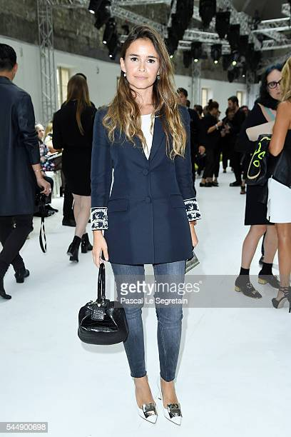 Miroslava Duma attends the Giambattista Valli Haute Couture Fall/Winter 20162017 show as part of Paris Fashion Week on July 4 2016 in Paris France