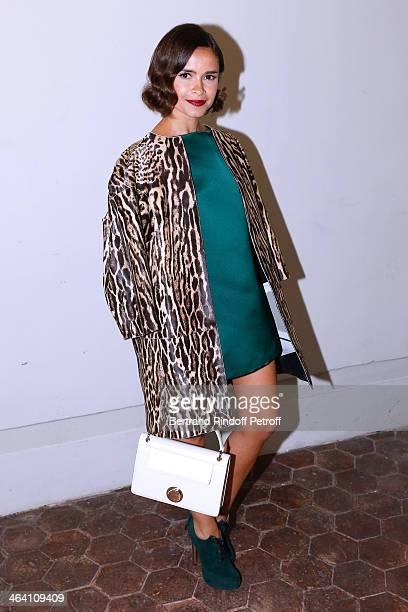 Miroslava Duma attends the Giambattista Valli show as part of Paris Fashion Week Haute Couture Spring/Summer 2014 on January 20 2014 in Paris France
