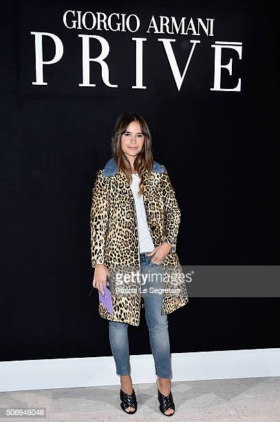 Miroslava Duma attends the Giorgio Armani Prive Spring Summer 2016 show as part of Paris Fashion Week on January 26 2016 in Paris France