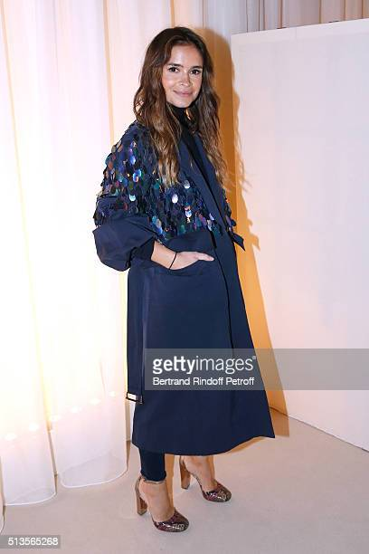 Miroslava Duma attends the Lanvin show as part of the Paris Fashion Week Womenswear Fall/Winter 2016/2017 on March 3 2016 in Paris France
