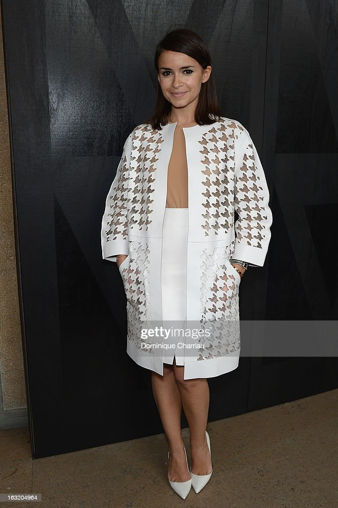 Miroslava Duma attends the Miu Miu Fall/Winter 2013 Ready-to-Wear show as part of Paris Fashion Week on March 3, 2013 in Paris, France.