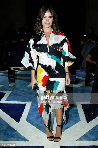 Miroslava Duma attends the Miu Miu Resort Collection 2015 at Palais d'Iena on July 5 2014 in Paris France