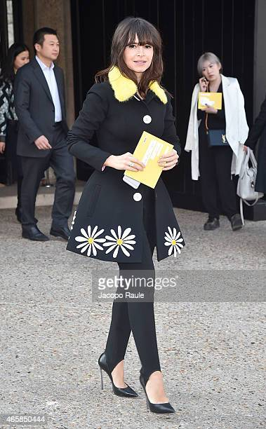 Miroslava Duma attends the Miu Miu show as part of Paris Fashion Week Fall Winter 2015/2016 on March 11 2015 in Paris France