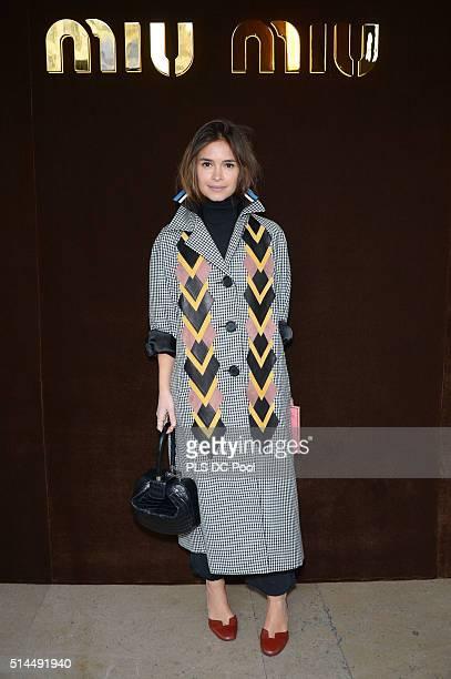 Miroslava Duma attends the Miu Miu show as part of the Paris Fashion Week Womenswear Fall / Winter 2016 on March 9 2016 in Paris France