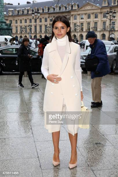 Miroslava Duma attends the Roland Mouret show as part of the Paris Fashion Week Womenswear Fall/Winter 2014201 on February 28 2014 in Paris France