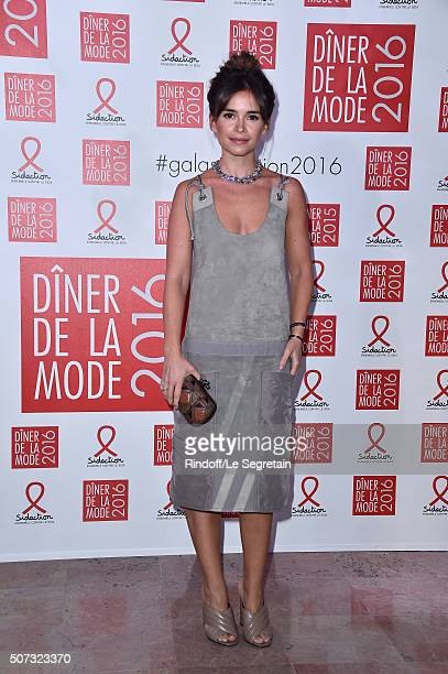 Miroslava Duma attends the Sidaction Gala Dinner 2016 as part of Paris Fashion Week on January 28 2016 in Paris France
