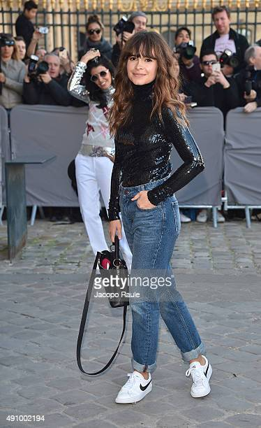 Miroslava Duma is arriving at Dior Fashion Show during the Paris Fashion Week S/S 2016 Day 4 on October 2 2015 in Paris France