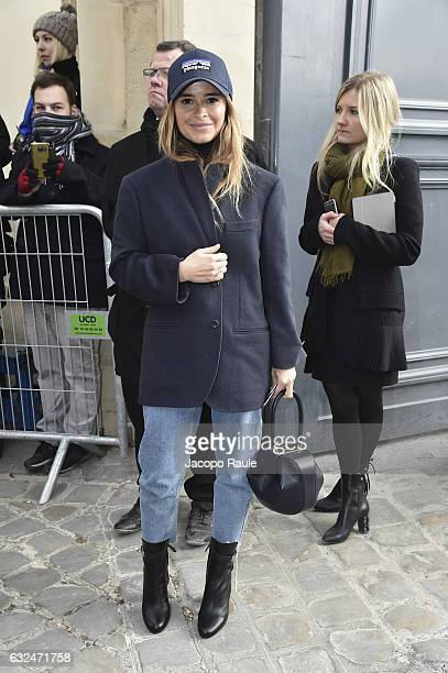 Miroslava Duma is seen arriving at Dior Fashion show during Paris Fashion Week Haute Couture F/W 20172018 on January 23 2017 in Paris France