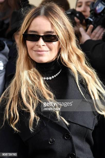 Miroslava Duma is seen arriving at Dior Fashion show during Paris Fashion Week Menswear Fall Winter 2018/2019 on January 22 2018 in Paris France