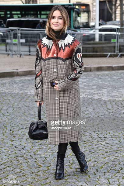 Miroslava Duma is seen arriving at Miu Miu fashion show during the Paris Fashion Week Womenswear Fall/Winter 2017/2018 on March 7 2017 in Paris France