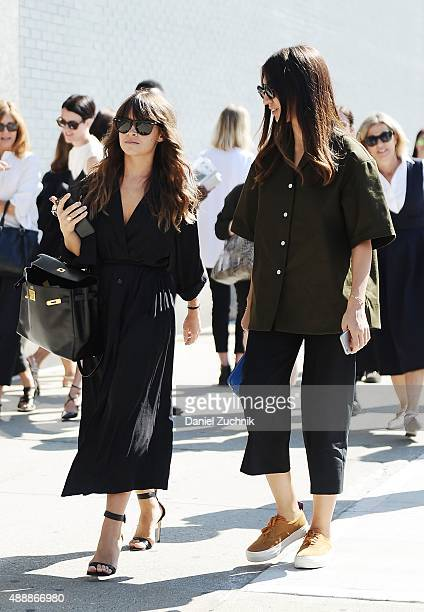 Miroslava Duma is seen outside the Calvin Klein show during New York Fashion Week 2016 on September 17 2015 in New York City