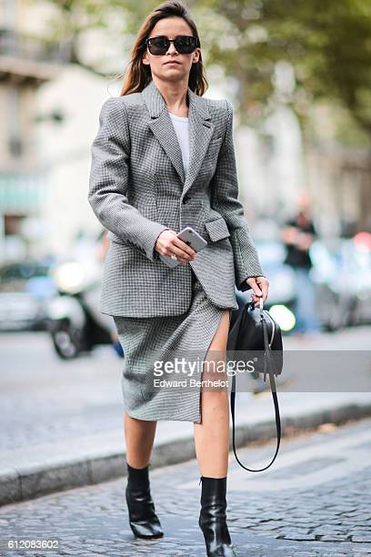 Miroslava Duma is seen outside the Valentino show during Paris Fashion Week Spring Summer 2017 on October 2 2016 in Paris France