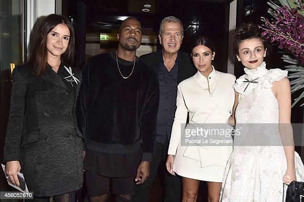 Miroslava Duma Kanye West Mario Testino Kim Kardashian and Natalia Alaverdian attend Buro 24/7 Fashion Forward Initiative Presenting Natalia...