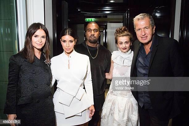Miroslava Duma Kim Kardashian Kanye West Natalia Alaverdian and Mario Testino attend the Buro 24/7 Fashion Forward Initiative Presenting Natalia...