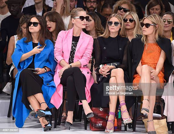 Miroslava Duma Lucie de la Falaise Olivia Palermo and Camille Rowe attend the Christian Dior show as part of the Paris Fashion Week Womenswear...
